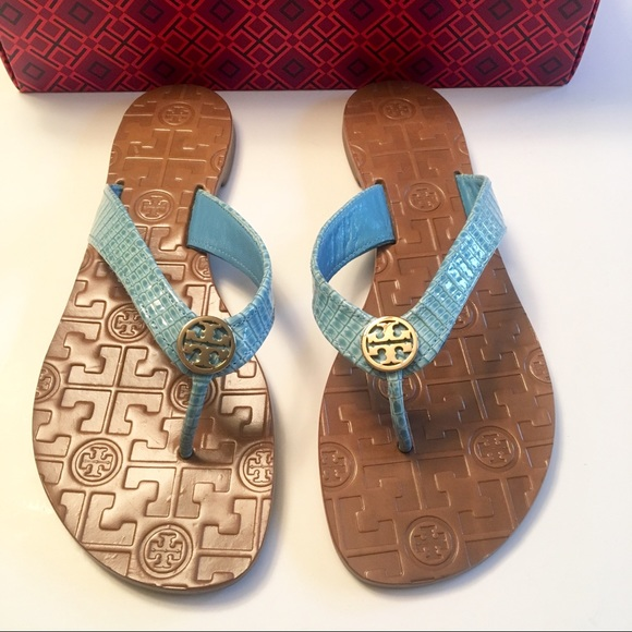 7f60e7c5fa43 NIB Tory Burch Leather Flip Flops